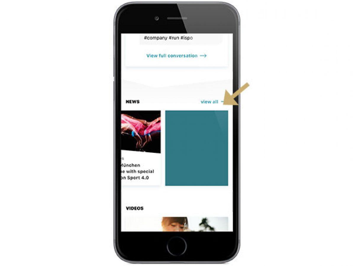 Homescreen-Banner in der App