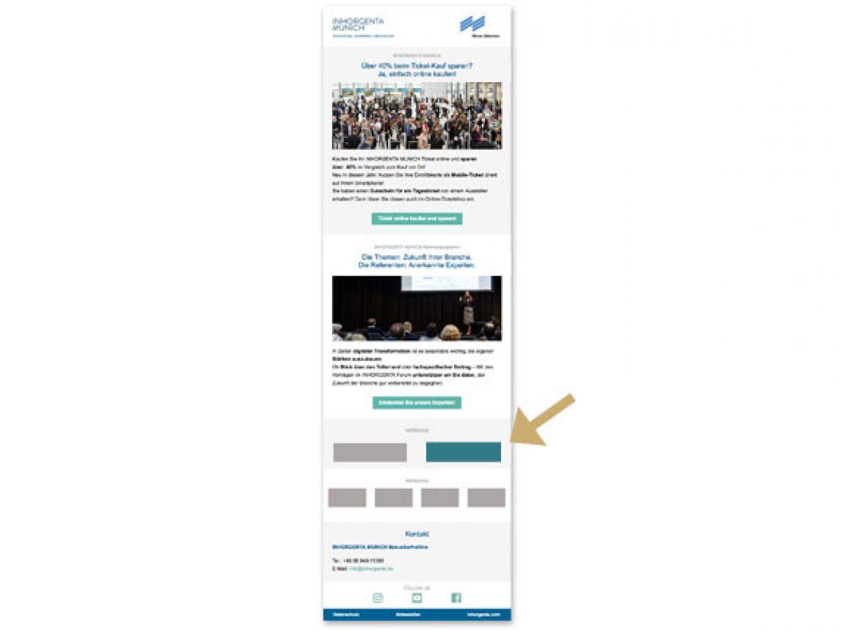 Halfsize-Banner im Besuchermailing