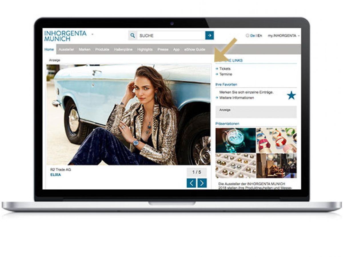 Premium-Teaser im Online-Katalog
