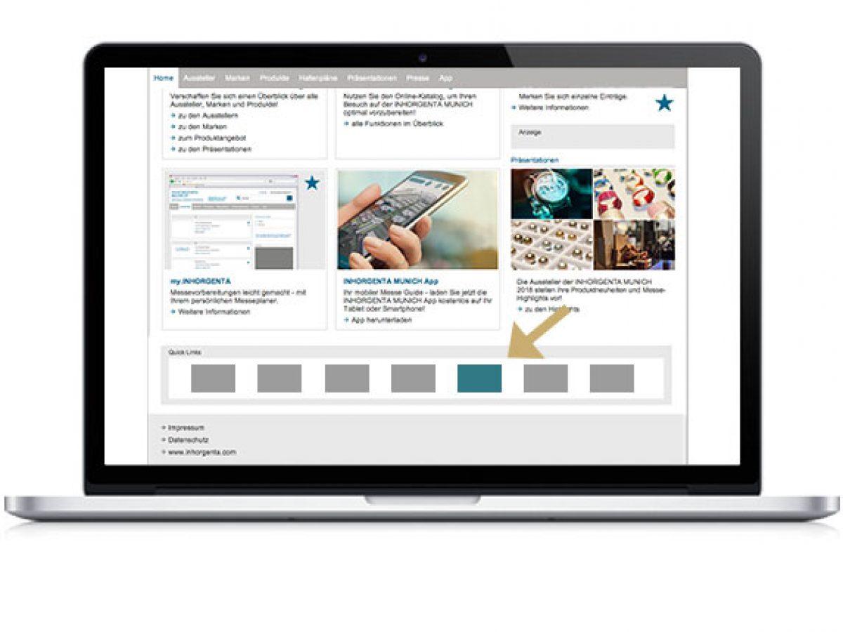 Quick Link im Online-Katalog