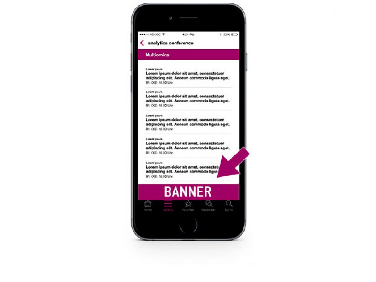 Banner in der analytica App