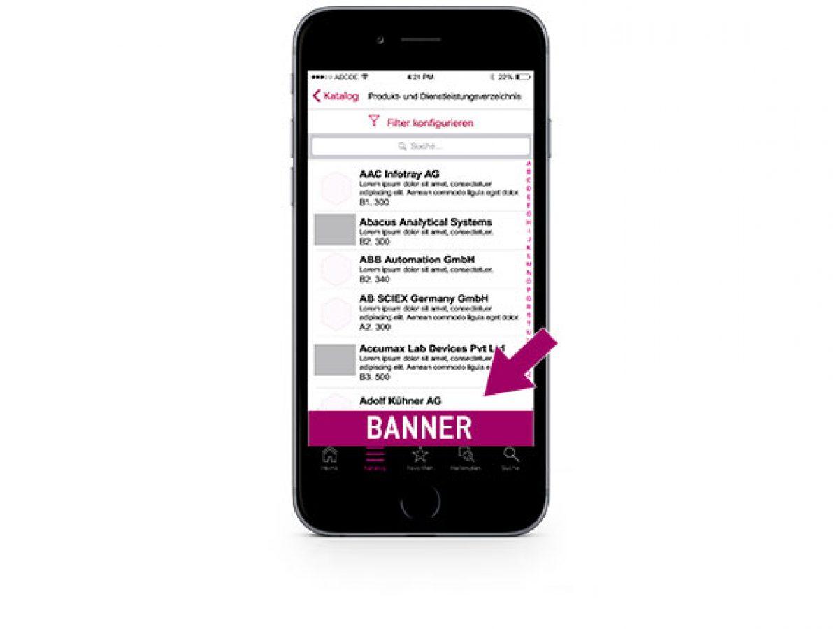 Banner in der App