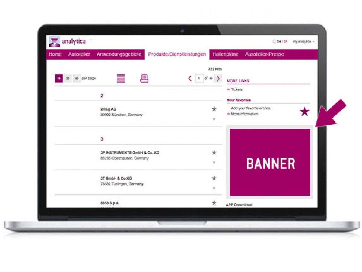 Banner im Online-Katalog