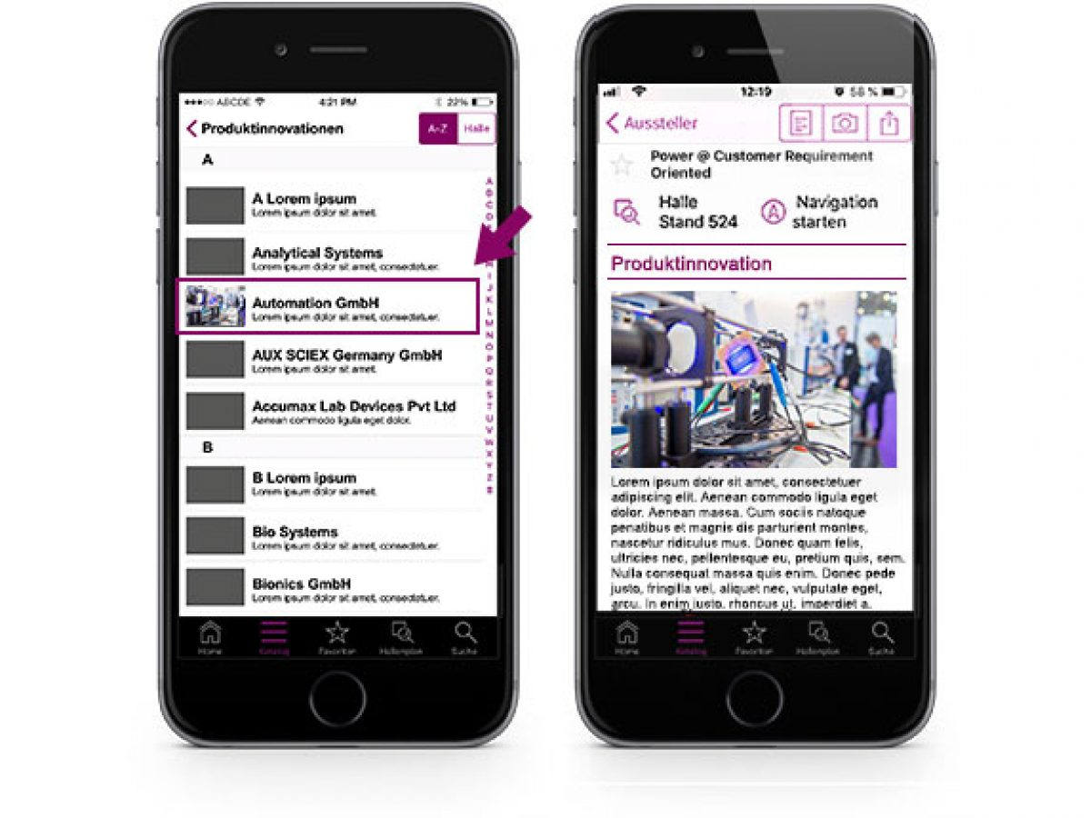 Ihre Produktinnovation in der analytica App