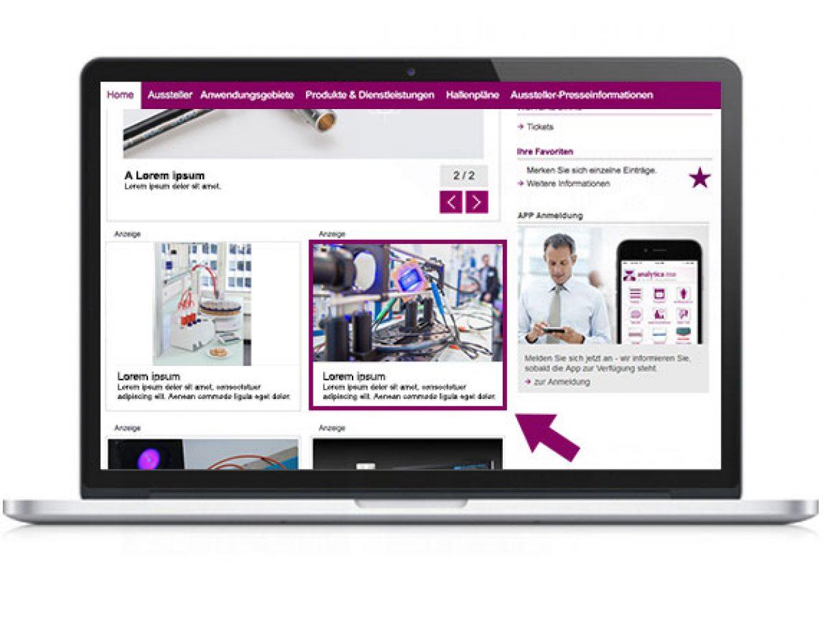 Ihr Teaser auf der Startseite des Online-Katalogs