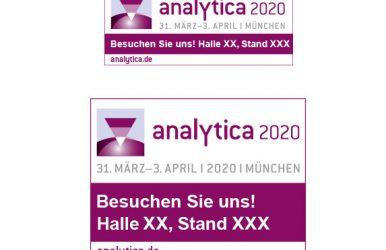 Anzeigen-Einklinker mit Messe-Logo