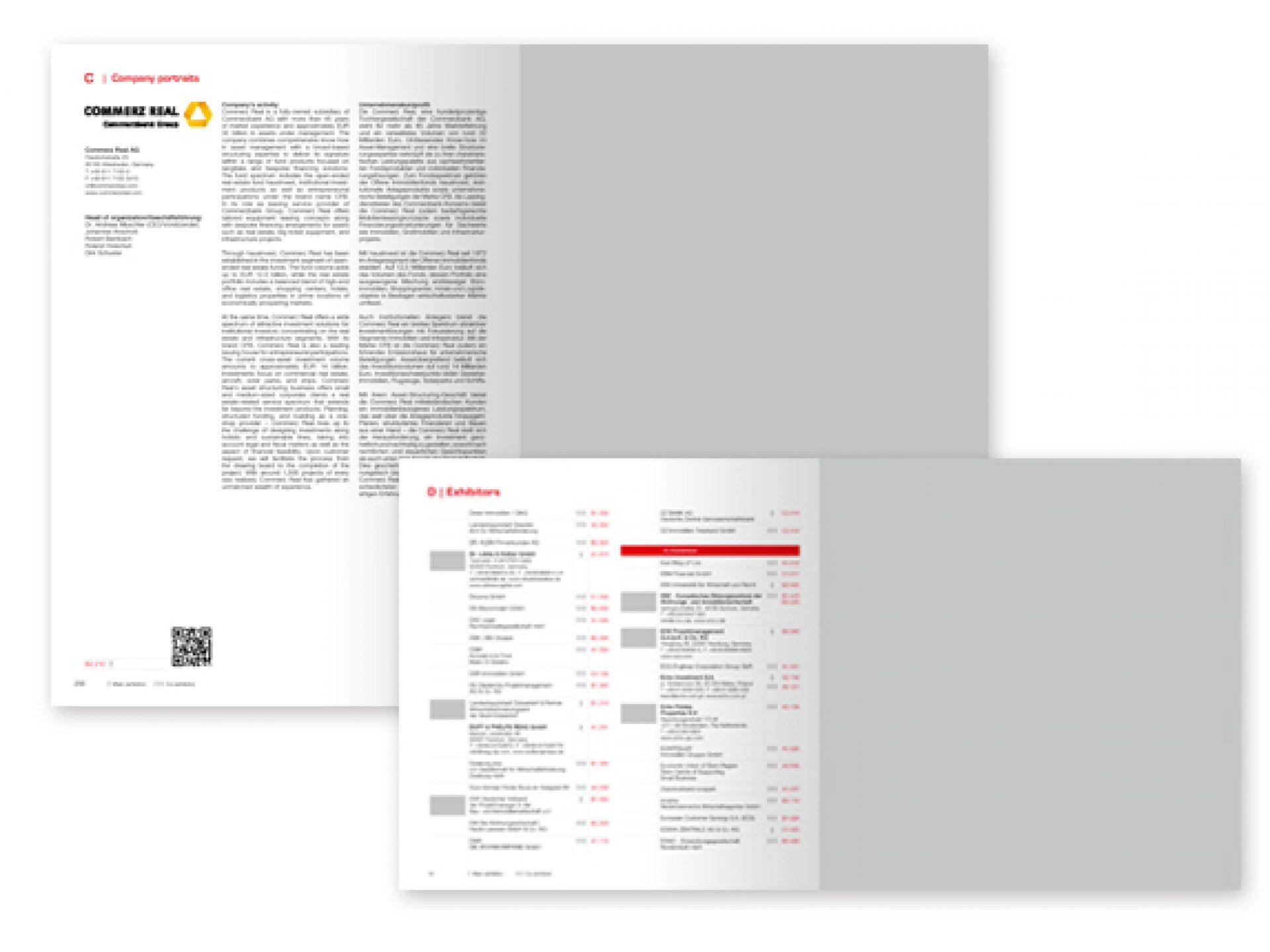 Kombination: Anzeige und Unternehmensporträt im Messekatalog, Anzeige EXPO REAL Guide