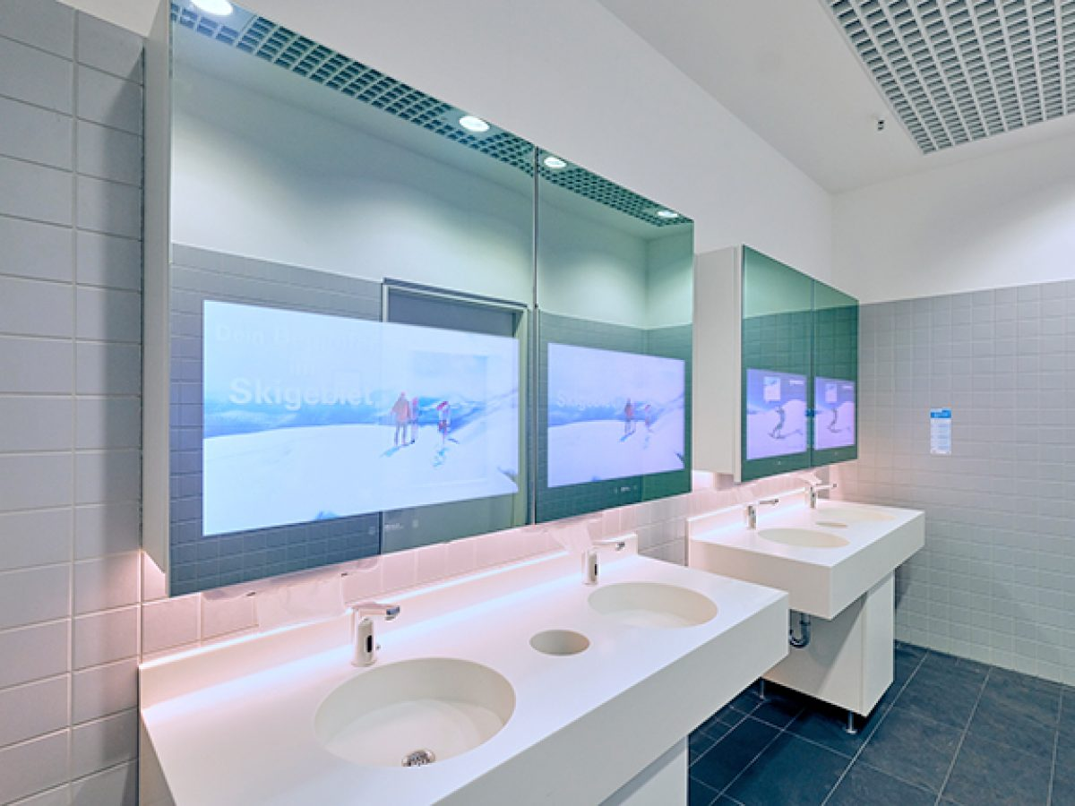 Digital mirror advertisement