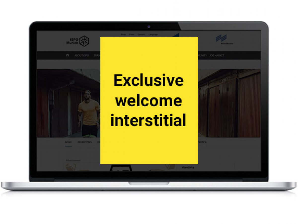 Exklusives Welcome Interstitial