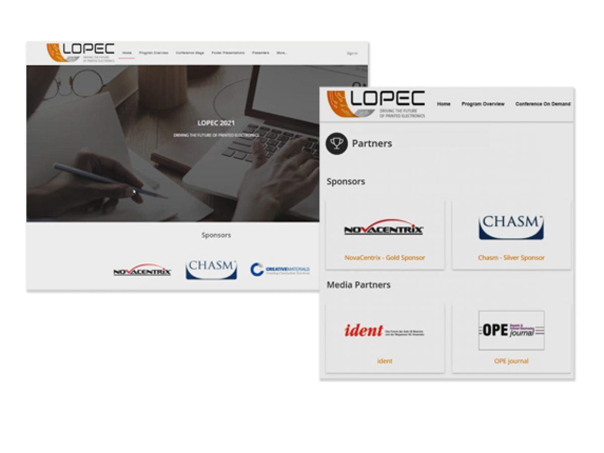 Logo auf der Startseite und im Sponsoren-Bereich