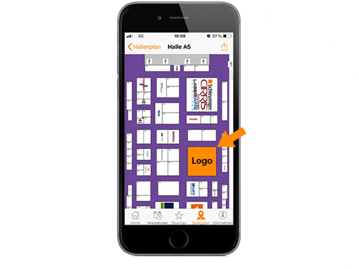 Hall plans in the productronica app