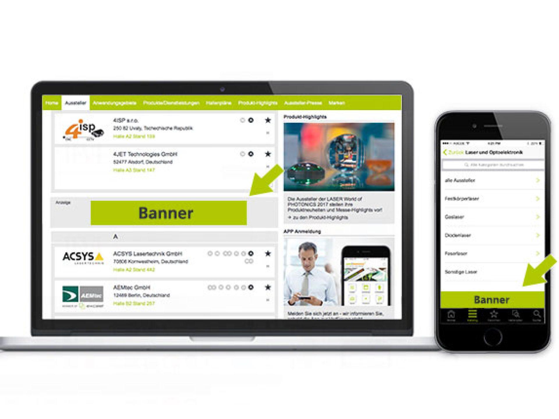 Verzeichnisbanner (Online-Katalog, App)