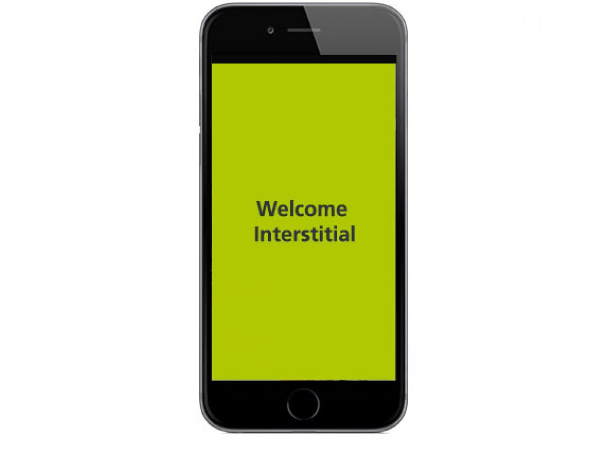 Welcome Interstitial in der App