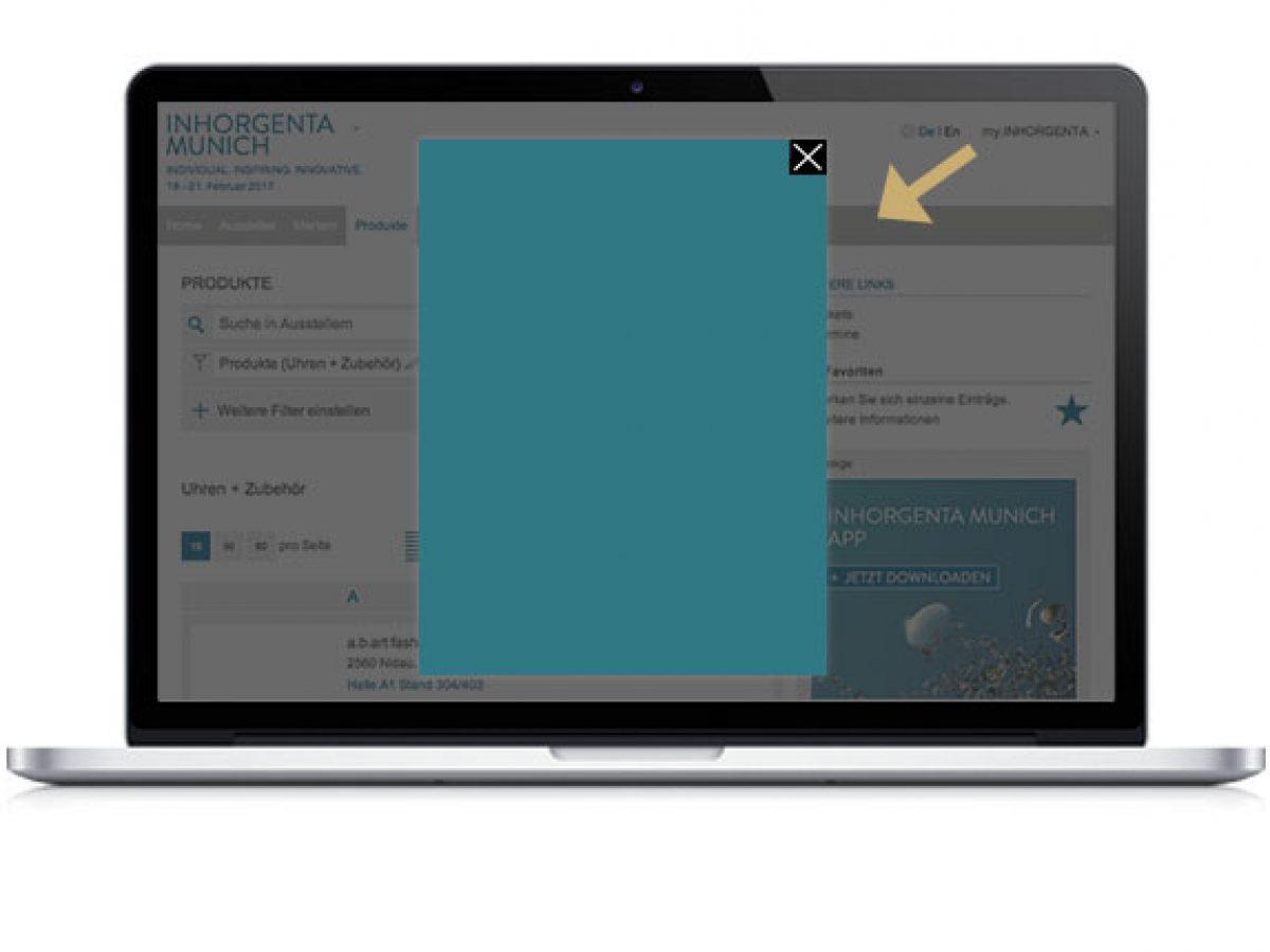 Splash Screen im Online Katalog