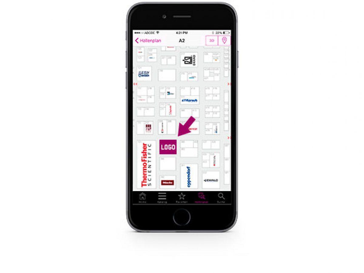 Hallenplan der analytica App