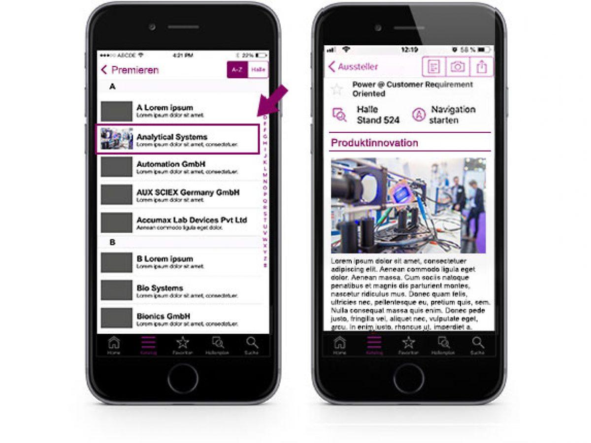 Ihr Produktteaser in der analytica App