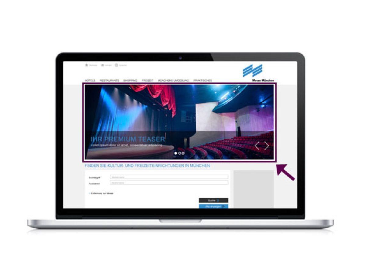 Premium-Teaser auf der Startseite