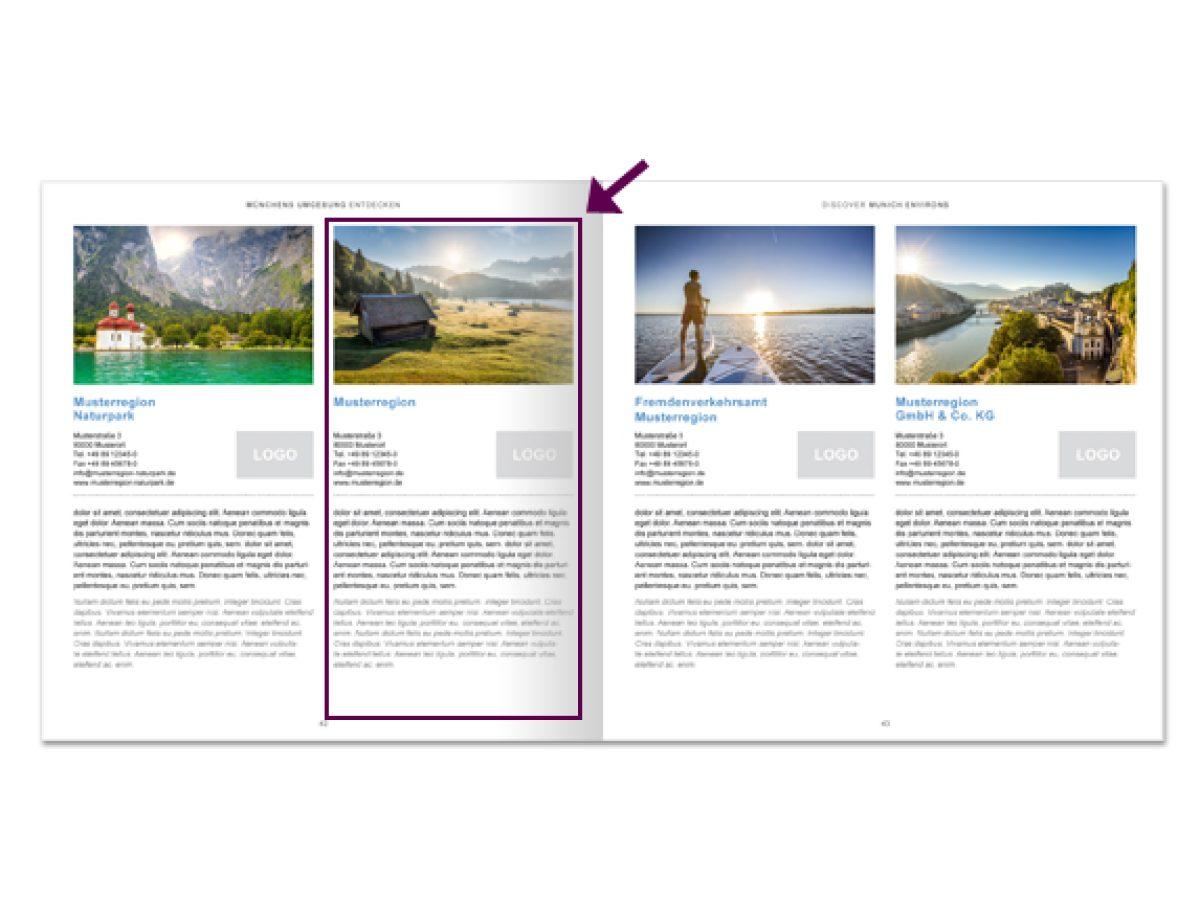 1/2 seitige Präsentation im gedruckten City Guide