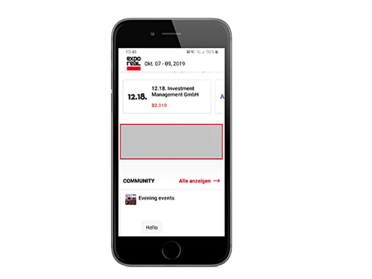 Banner auf der App-Startseite