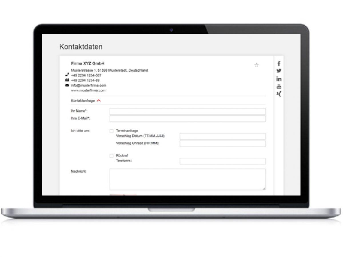Digitales Kontaktformular