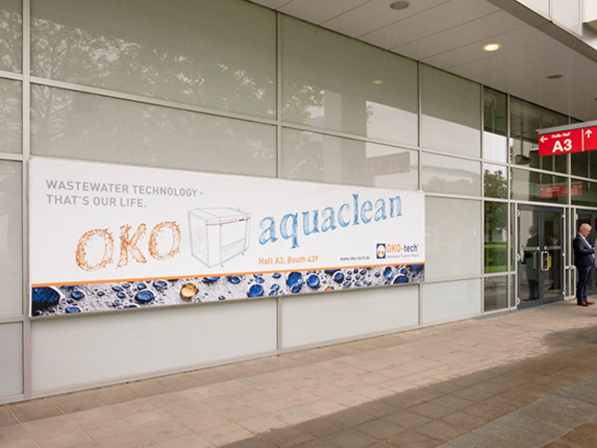 Banner im Atrium