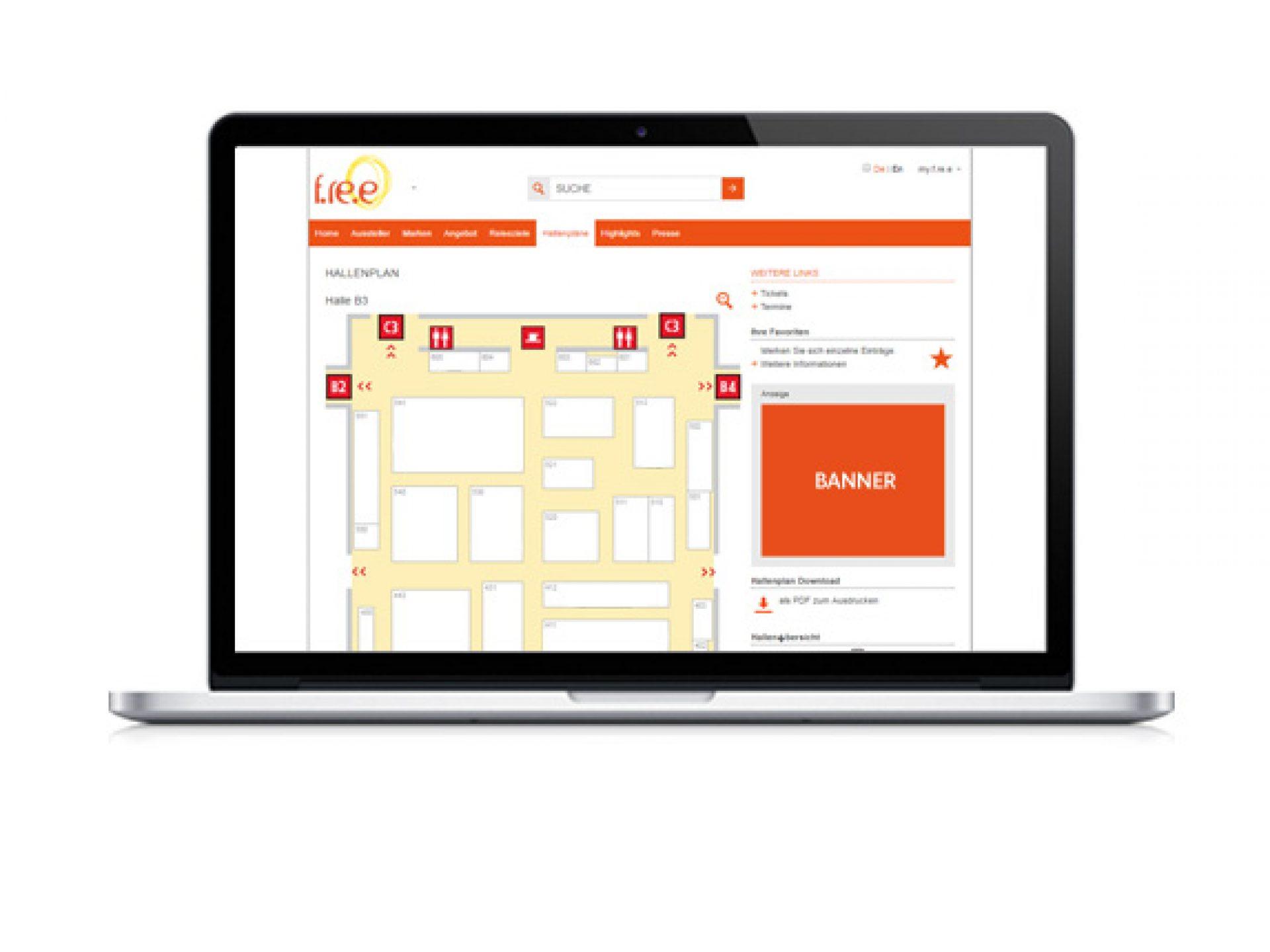 Medium-Rectangle neben Ihrer Halle im Online-Katalog