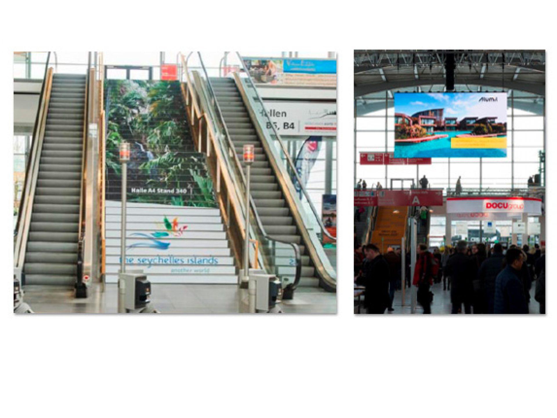 Treppenstufen & LED-Screen