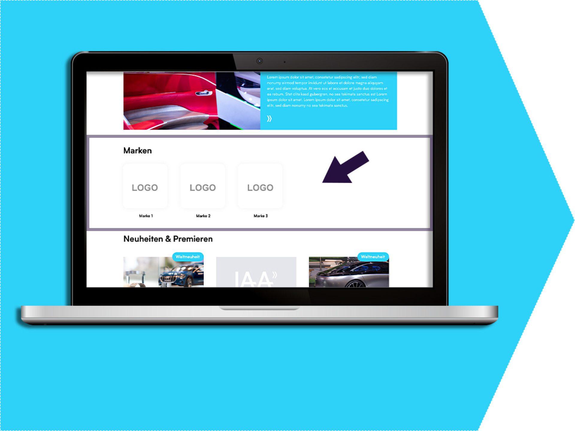 Brand logos on your exhibitor profile (exhibitor portal)