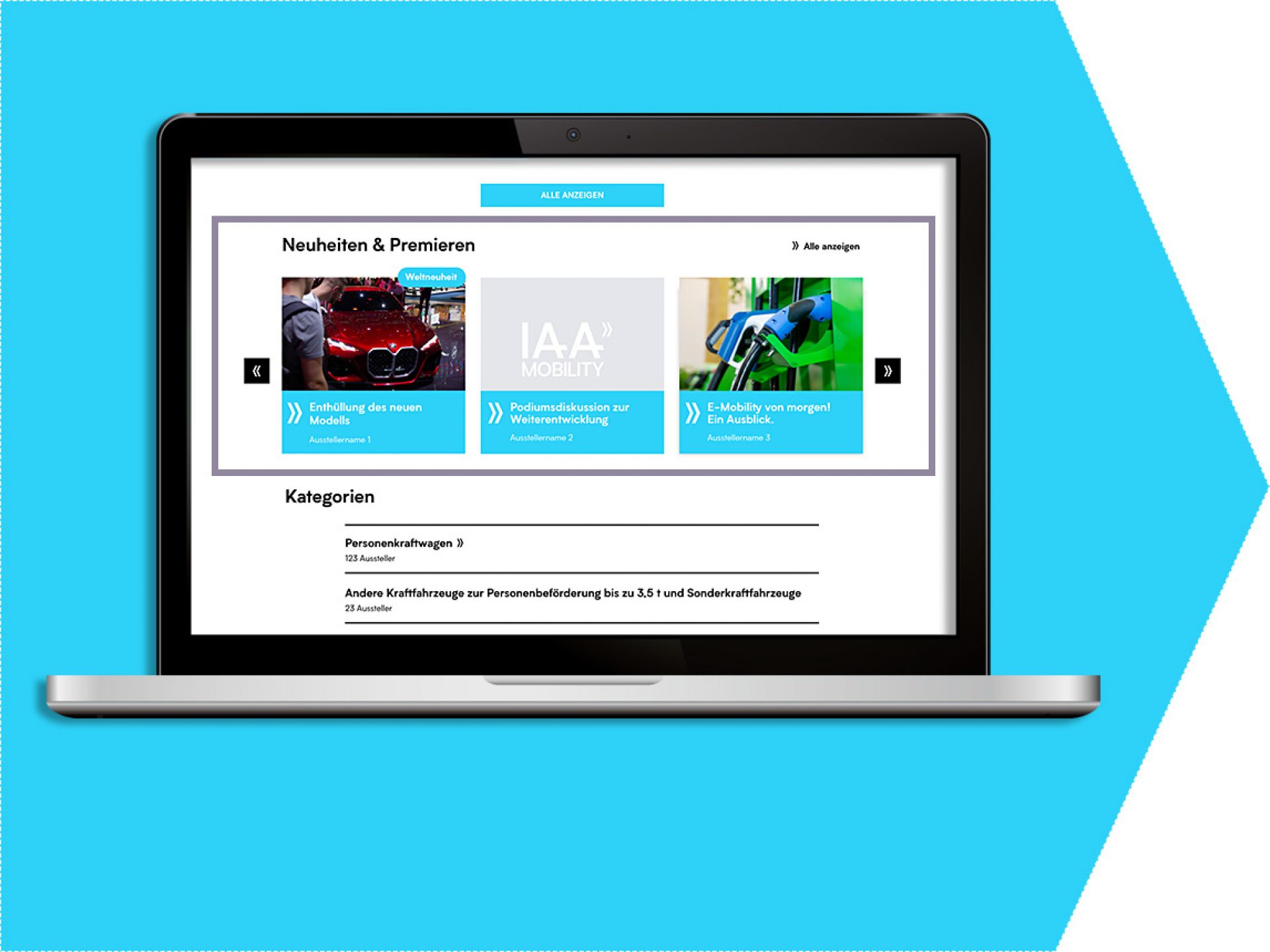 Innovations on the exhibitor portal