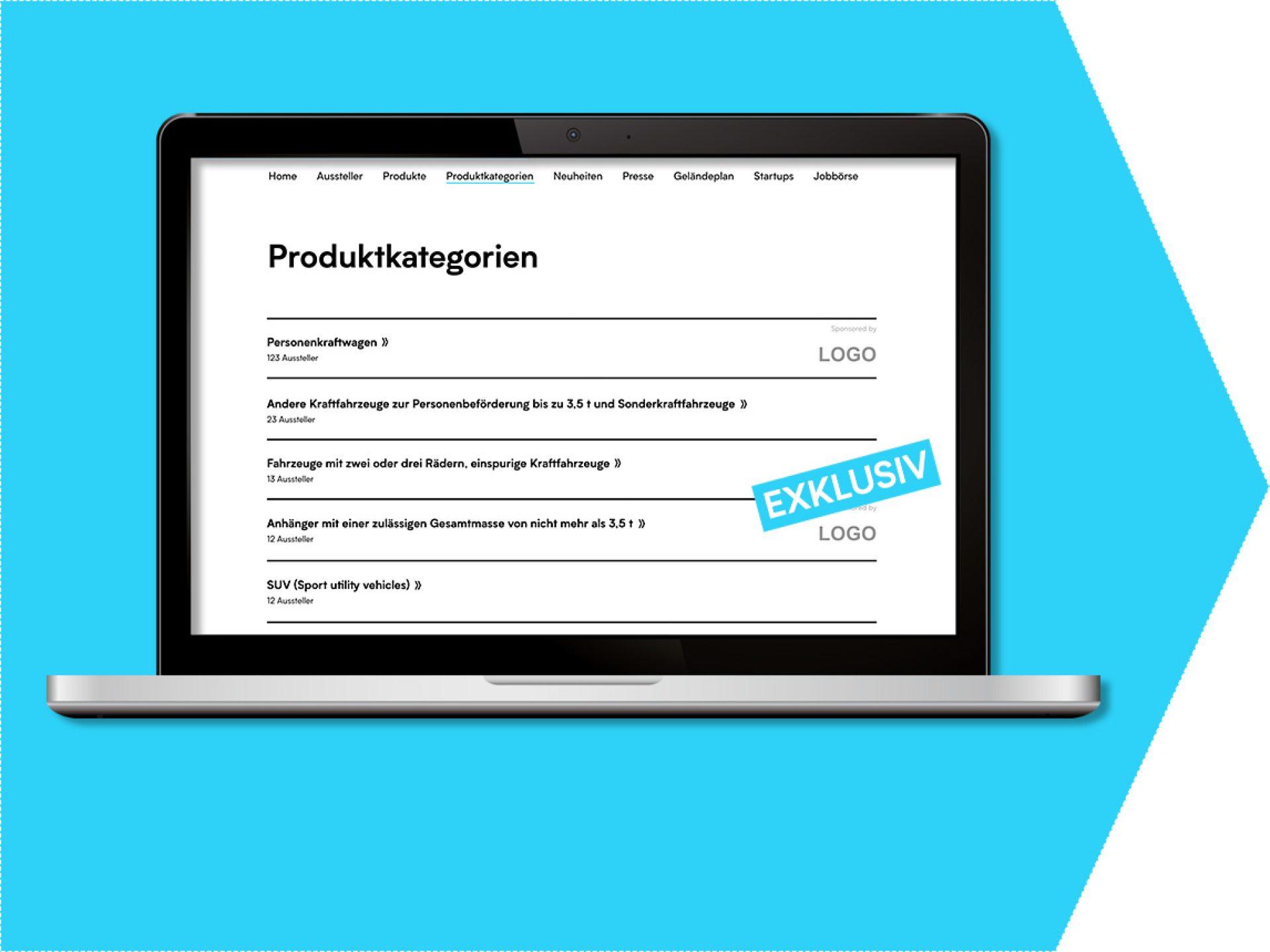 Logosponsoring Produktkategorie
