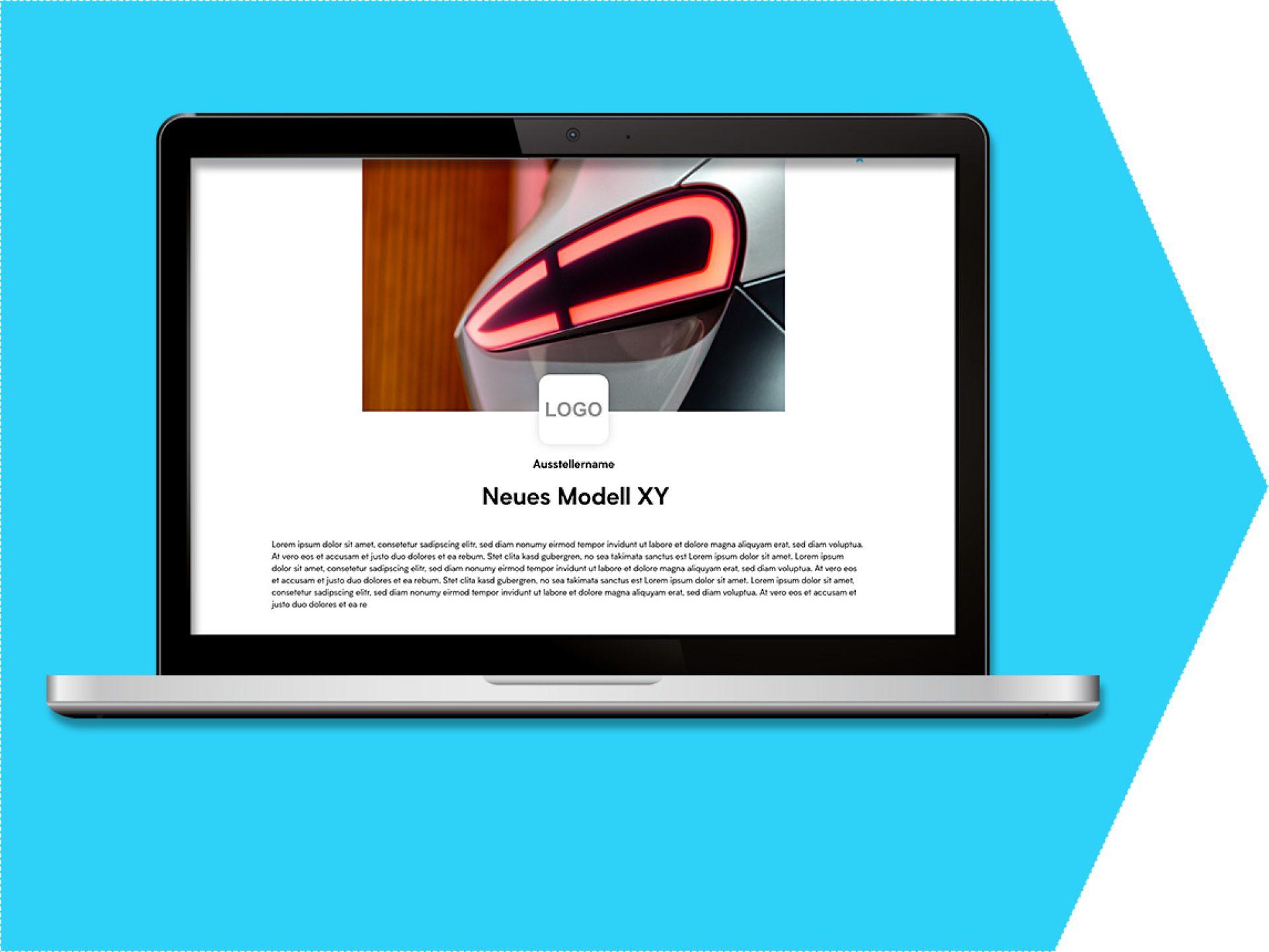 Key Visual und Produktbeschreibung