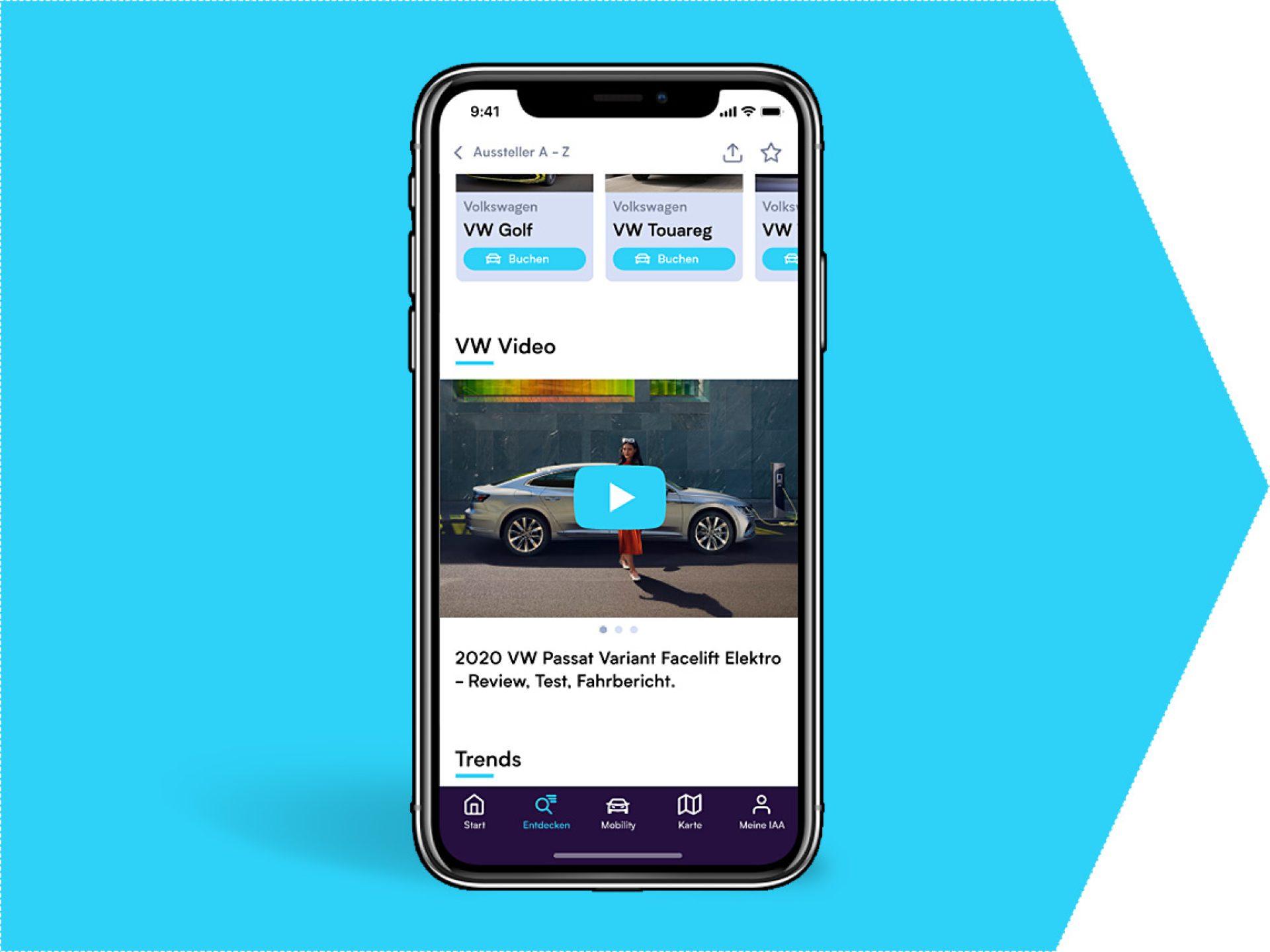 Video on your exhibitor profile (IAA app)