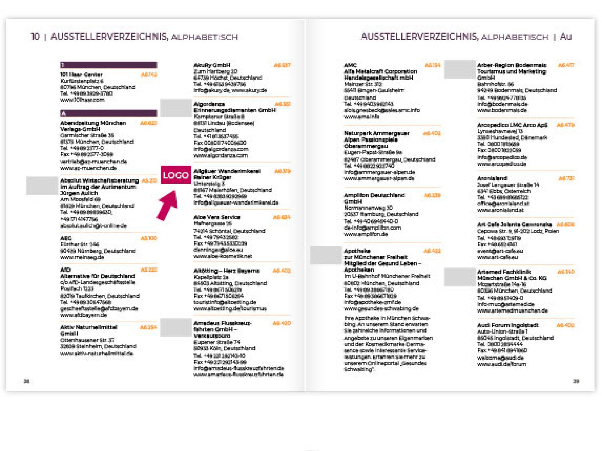 Ihr Firmenlogo im gedruckten Katalog