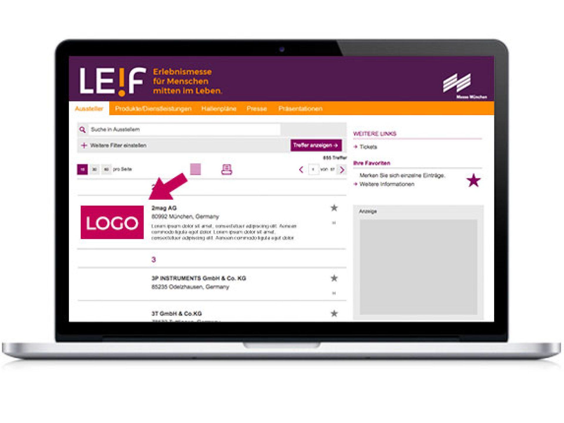 Ihr Firmenlogo im Online-Katalog