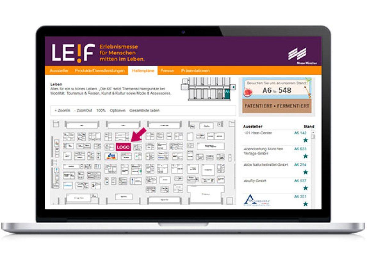 Ihr Logo im Online-Hallenplan