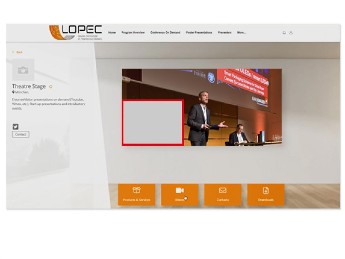 Pop-Up-Banner während der Live Conference