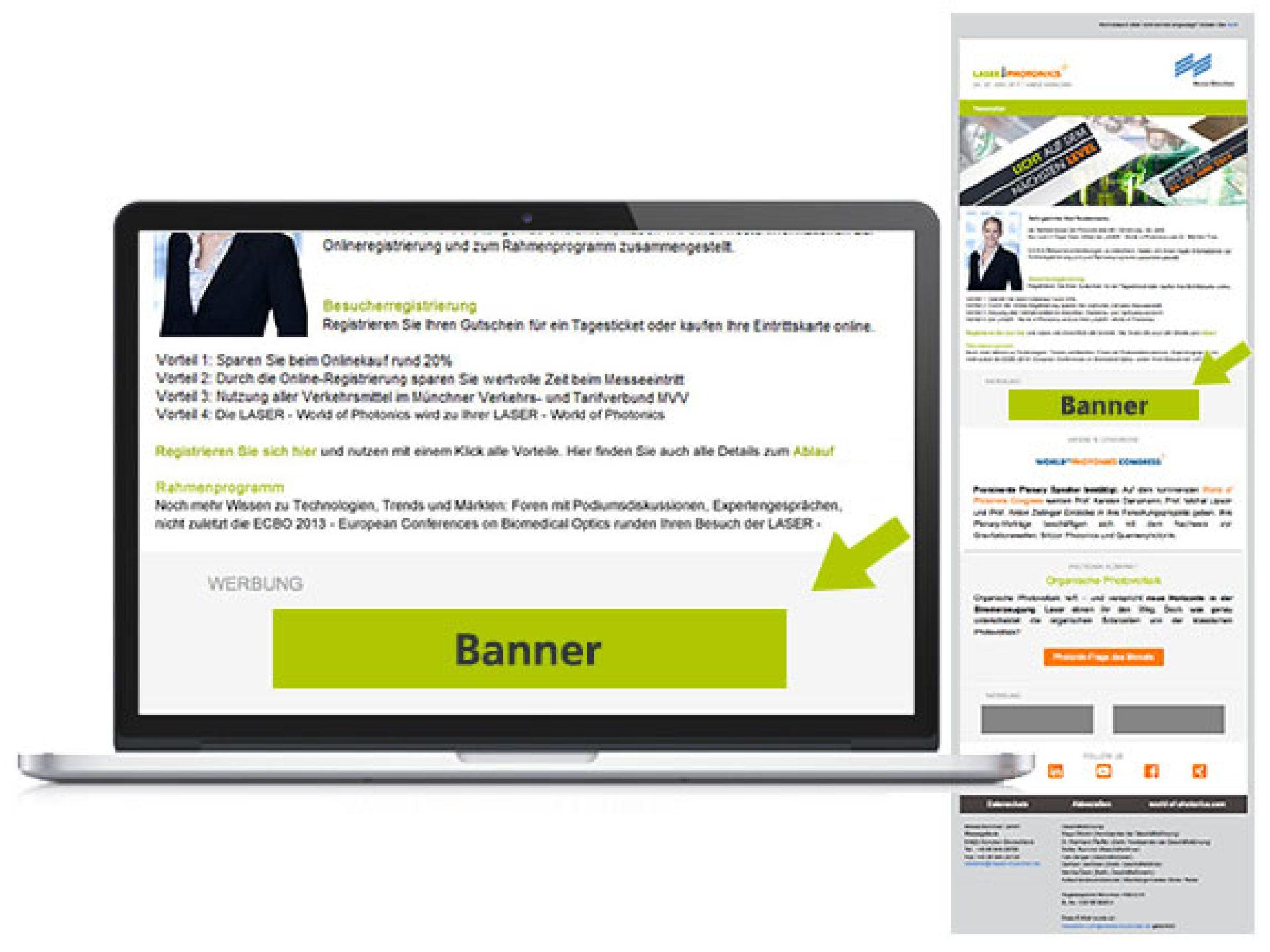 Fullsize-Banner im Besucher-E-Mailing