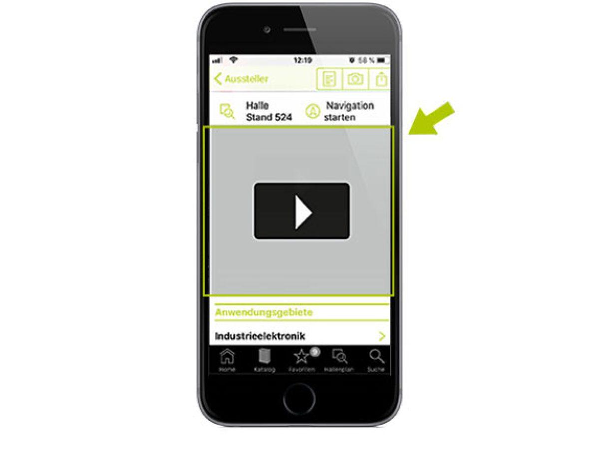 Ihr Video in der App