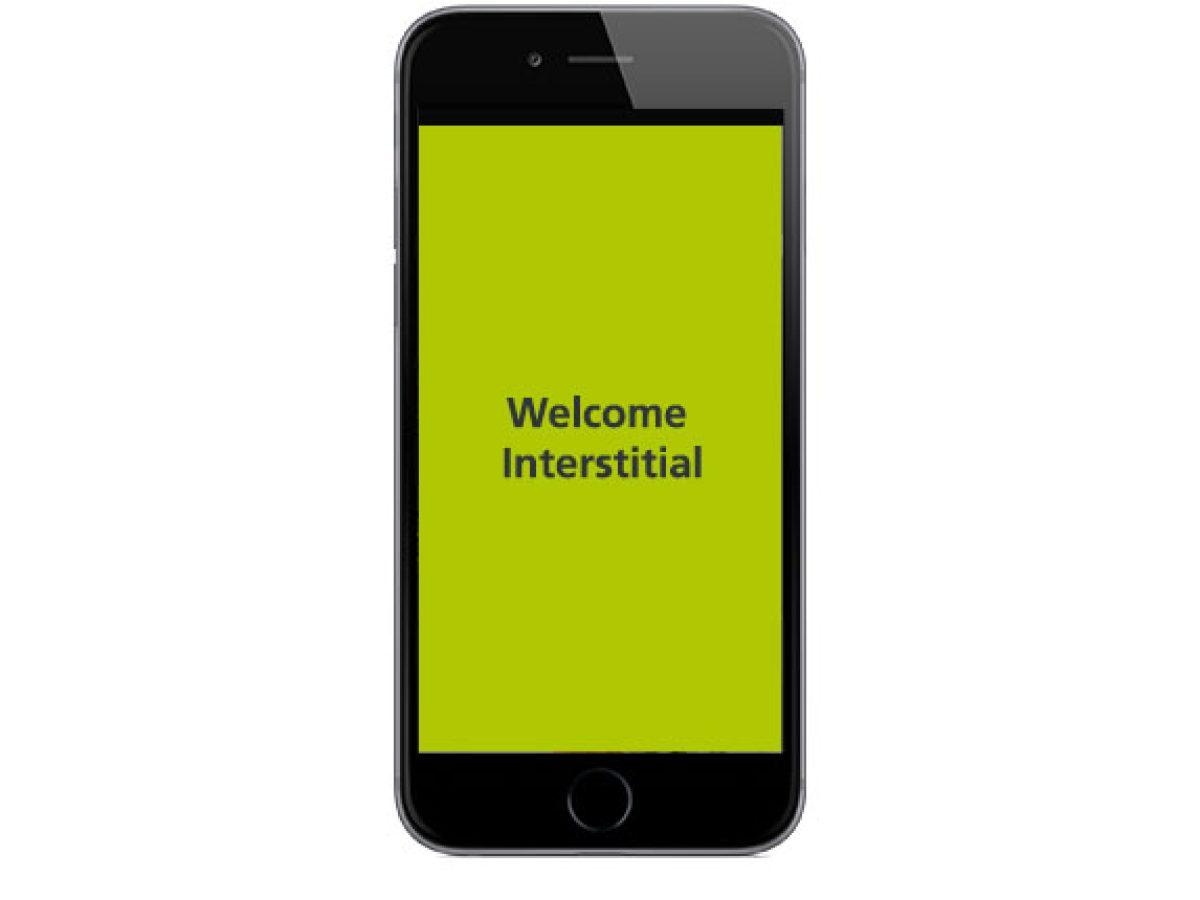 Welcome Interstitial in der App
